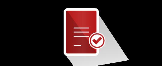 Verification of documents icon